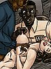 Slowly impaling her throat with his big hard dick - Slut for ugly black men by Illustrated interracial